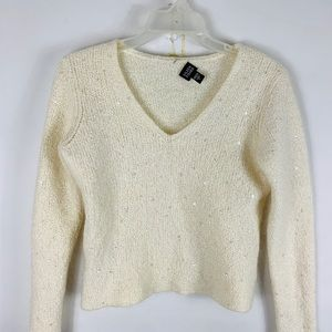 Eileen Fisher Mohair Sequined Sweater